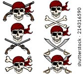 Vector Set Of Cartoon Pirate...