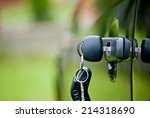 car keys left in a lock | Shutterstock . vector #214318690
