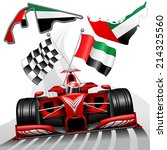 red race car gp abu dhabi... | Shutterstock .eps vector #214325560