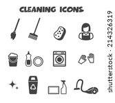 cleaning icons  mono vector...   Shutterstock .eps vector #214326319