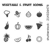 vegetable and fruit icons  mono ...   Shutterstock .eps vector #214326478