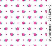 Seamless Pattern. Hot Pink...