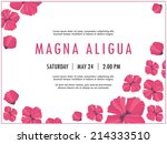 bridal shower invitation... | Shutterstock .eps vector #214333510