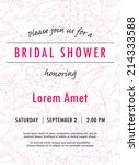 bridal shower invitation... | Shutterstock .eps vector #214333588