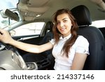 girl in the car | Shutterstock . vector #214337146