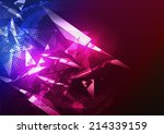 disco party poster background... | Shutterstock .eps vector #214339159