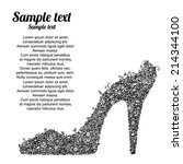 Black High Heel Shoes With...