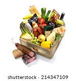 Selection Of Food In A Basket