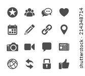 social network communication... | Shutterstock .eps vector #214348714