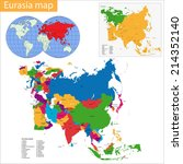 map of eurasia drawn with high... | Shutterstock .eps vector #214352140