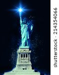 Statue Of Liberty At Night With ...