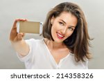 A Beautiful Girl Taking Selfie