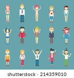 different beautiful vector... | Shutterstock .eps vector #214359010