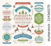 christmas decoration vector... | Shutterstock .eps vector #214360270