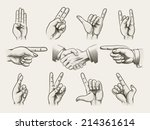 Set Of Vintage Style Hand...