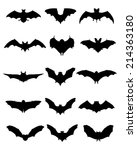 black silhouettes of bats ... | Shutterstock .eps vector #214363180