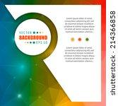 abstract creative concept... | Shutterstock .eps vector #214366858