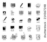 education icons set   isolated... | Shutterstock .eps vector #214367248