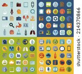 set of medical flat icons | Shutterstock .eps vector #214370866
