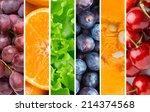 healthy food background.... | Shutterstock . vector #214374568