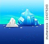 iceberg from water | Shutterstock .eps vector #214375243