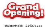 grand opening text banner... | Shutterstock . vector #214378186