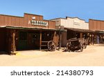 old wild  west cowboy town in... | Shutterstock . vector #214380793