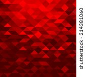 geometric red background with... | Shutterstock .eps vector #214381060