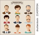 flat vector characters   Shutterstock .eps vector #214395934