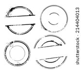 stamp set. vector stamp without ... | Shutterstock .eps vector #214404013