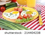 scrambled eggs with vegetables...