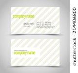 business card set template.... | Shutterstock .eps vector #214406800