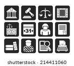 silhouette justice and judicial ... | Shutterstock .eps vector #214411060