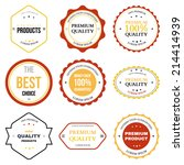 set of retro vintage badges and ... | Shutterstock .eps vector #214414939