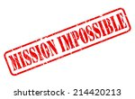 mission impossible red stamp... | Shutterstock .eps vector #214420213
