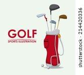 Golf Design Over White...