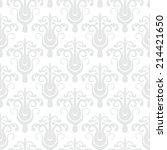 white geometric texture in art... | Shutterstock .eps vector #214421650