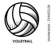 volleyball design over white... | Shutterstock .eps vector #214422136