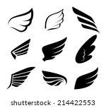 wings design over white...
