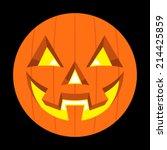 jack o lantern pumpkin vector... | Shutterstock .eps vector #214425859
