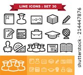 line icons set 30 .illustration ... | Shutterstock .eps vector #214447876