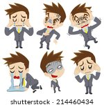 negative feelings of the... | Shutterstock .eps vector #214460434