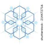 digitally generated blue snow...   Shutterstock . vector #214472716