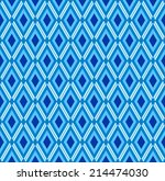 blue seamless rhombus pattern.... | Shutterstock . vector #214474030