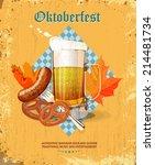 oktoberfest greeting card.... | Shutterstock .eps vector #214481734