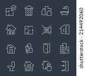 real estate icons | Shutterstock .eps vector #214492060