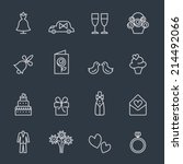 wedding icons | Shutterstock .eps vector #214492066