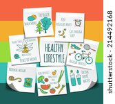 healthy lifestyle background  | Shutterstock .eps vector #214492168