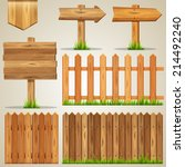 vector set of wood elements for ... | Shutterstock .eps vector #214492240