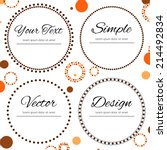 Dotted Design In Autumn Colors...